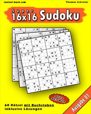 Cover 16x16 Buchstaben-Sudoku Schwer