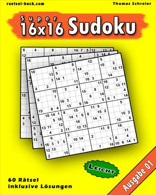 Cover 16x16 Sudoku Leicht